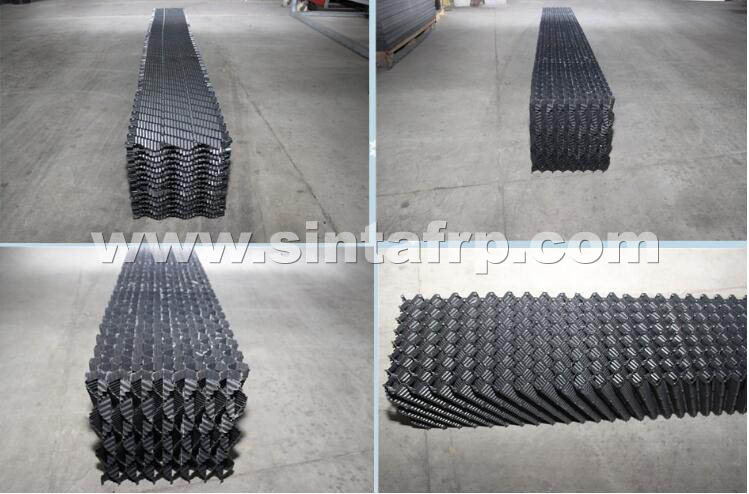 CF-1900 CROSS FLUTED PVC COOLING TOWER FILM Fill
