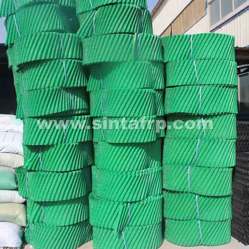 Round Roll pvc cooling tower infill