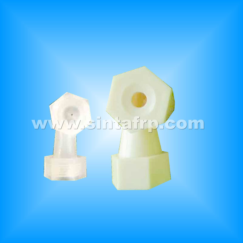 L Shape Plastic Spray nozzles for waste water treatment