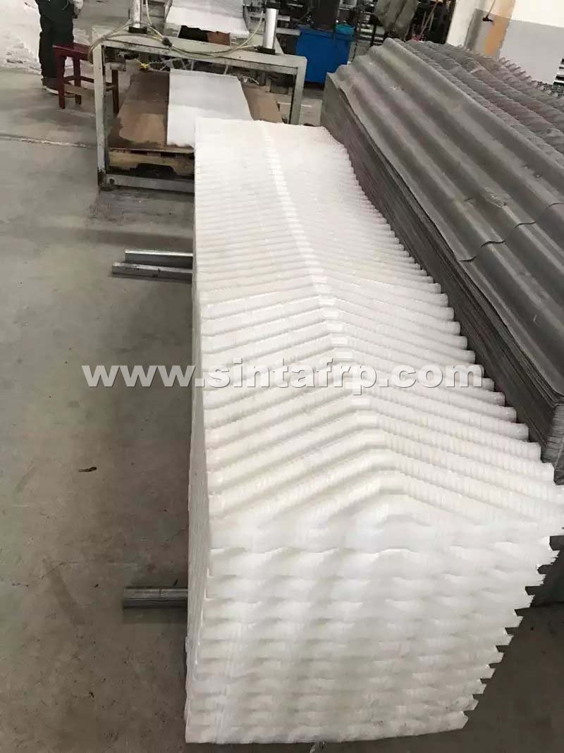 PP Material Cross Fluted Cooling Tower Film Fill