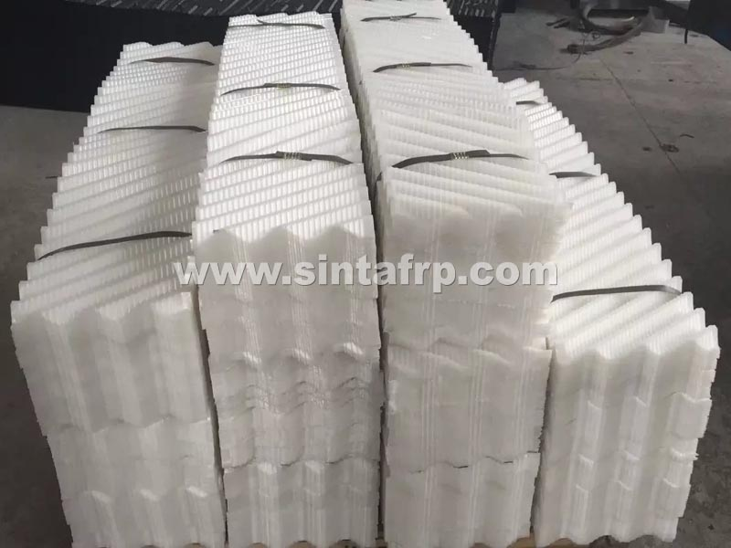 PP Material Cross Fluted Cooling Tower Fill Material