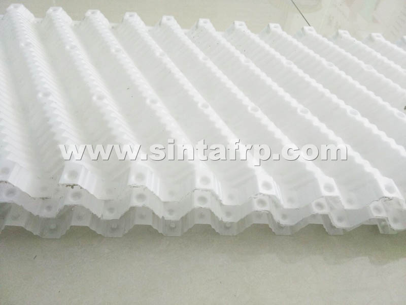 PP Material Cross Fluted Cooling Tower Fill Sheet