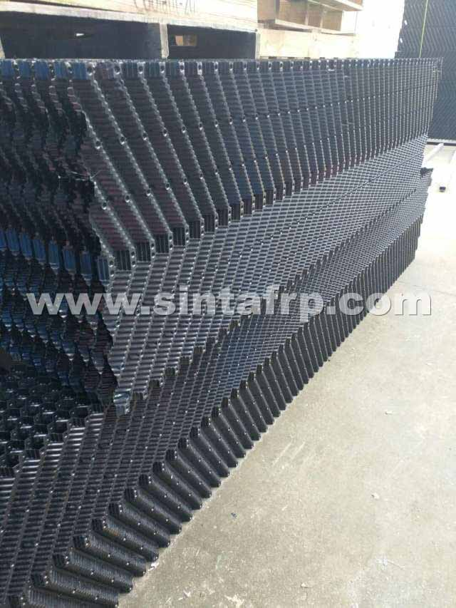 Counterflow Cross Corrugated Cooling Tower Fill Replacement