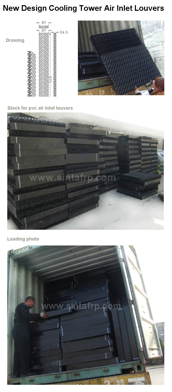 air inlet louvers for cooling tower